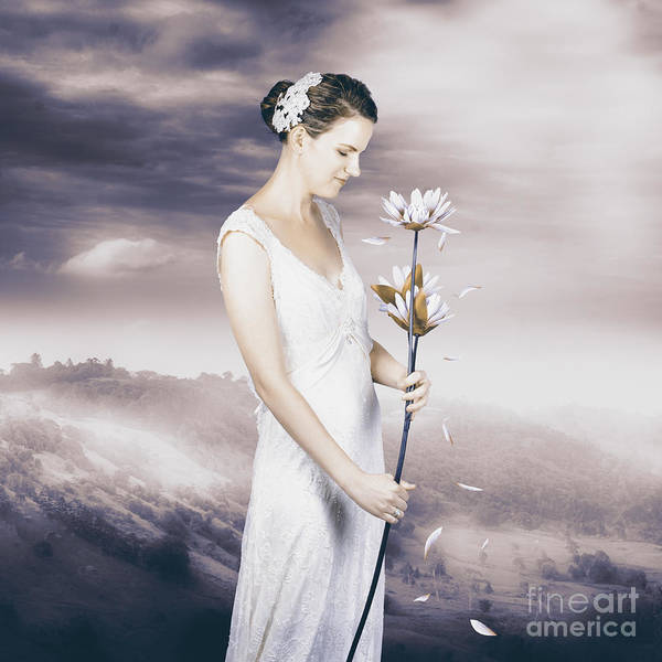 Idealistic Wall Art - Photograph - Charming Woman With Romantic Sentiment by Jorgo Photography - Wall Art Gallery