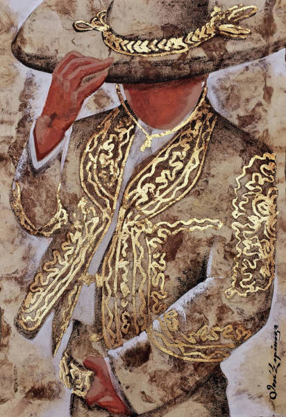 Mariachi Painting - C  H  A  R  R  O  .  G  I  R  L by J  - O   N    E