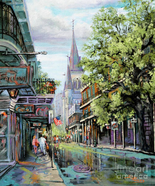 Wall Art - Painting - Chartres Rain by Dianne Parks