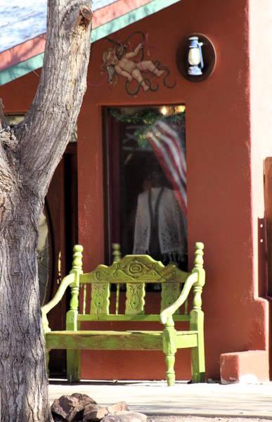 Photograph - Chartreuse Bench by Colleen Cornelius