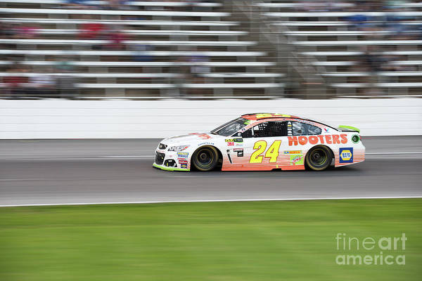 Photograph - Chase Elliott In A Blur by Paul Quinn