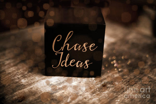 Idealistic Wall Art - Photograph - Chase Ideas Cube by Chellie Bock