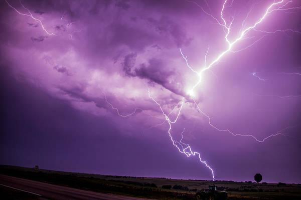 Photograph - Chasing Nebraska Lightning 018 by NebraskaSC