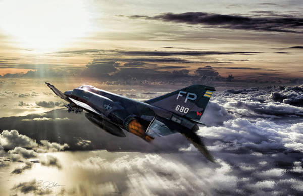 Tribute Digital Art - Chasing The Sun Robin Olds by Peter Chilelli
