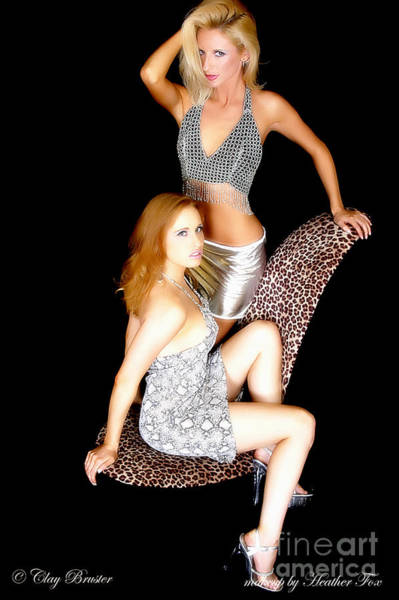 Photograph - Chasity And Sarah Glamour Girls by Clayton Bruster