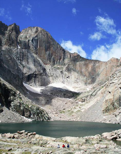 Timberline Photograph - Chasm Lake, Longs Peak, Colorado by Derrick Neill