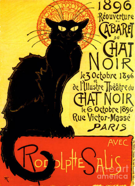 Chat Painting - Chat Noir Vintage by Mindy Sommers