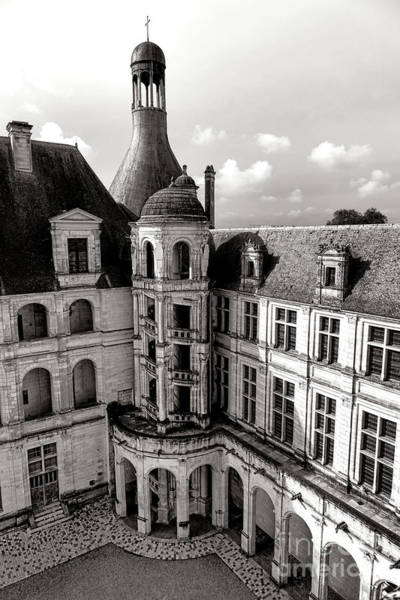 Wall Art - Photograph - Chateau De Chambord Courtyard And Staircase  by Olivier Le Queinec