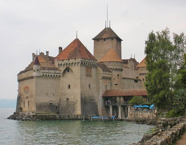 Lake Geneva Wall Art - Photograph - Chateau De Chillon Switzerland by Marilyn Dunlap
