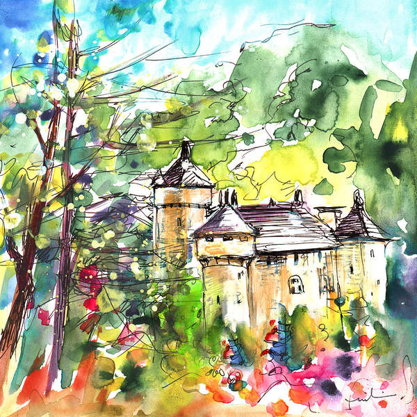 Painting - Chateau De La Caze by Miki De Goodaboom