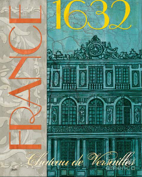 Vintage Poster Painting - Chateau De Versailles by Debbie DeWitt