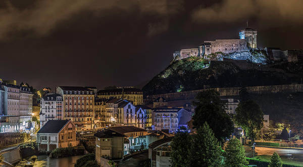 Roman Fort Photograph - Chateau Fort Of Lourdes by Everet Regal