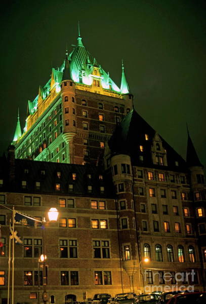 Wall Art - Photograph - Chateau Frontenac At Night In Quebec City by Sami Sarkis