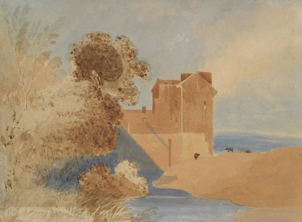 Ch Painting - Chateau In Normandy, Circa 1835, France, By John Cotman by Celestial Images