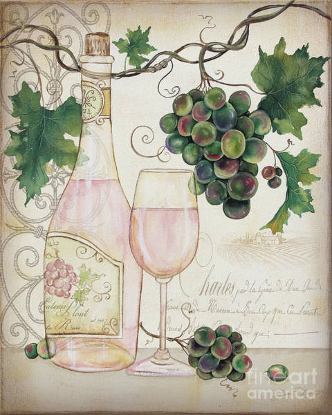 Booze Wall Art - Painting - Chateau Plout Wine-a by Jean Plout