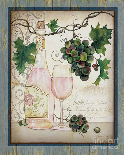 Booze Wall Art - Painting - Chateau Plout Wine-c by Jean Plout