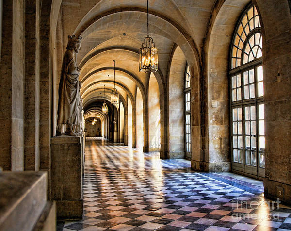 Wall Art - Photograph - Chateau Versailles Interior Hallway Architecture  by Chuck Kuhn
