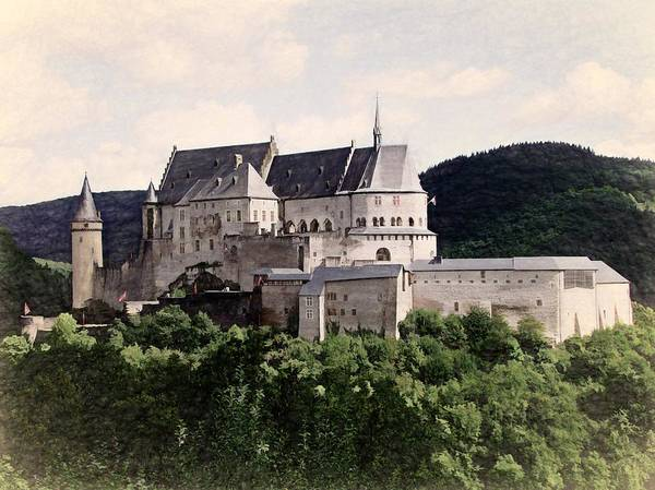 Digital Art - Chateau Vianden - Luxembourg by Joseph Hendrix