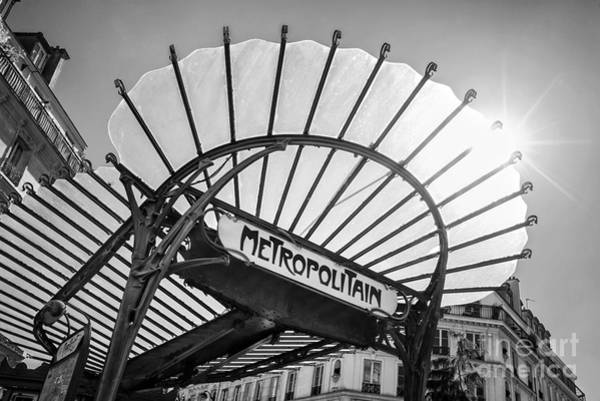 Wall Art - Photograph - Chatelet Metropolitain by Delphimages Photo Creations