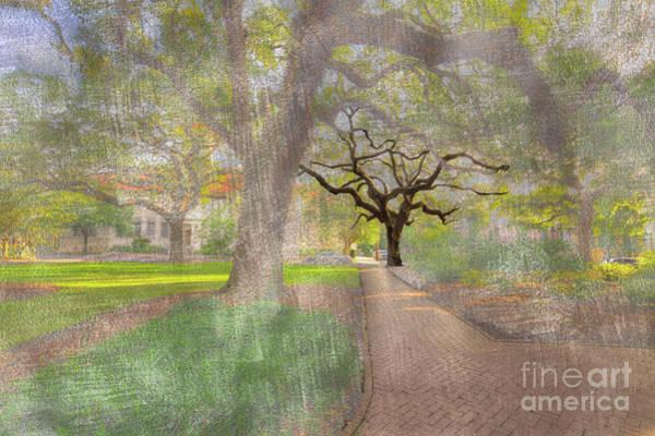 Park Bench Digital Art - Chatham Square  by Larry Braun
