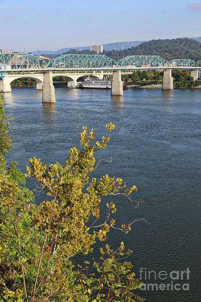 Photograph - Chattanooga Bridge With Riverboat by Carol Groenen