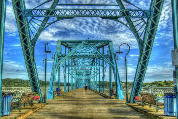 Photograph - Chattanooga Heart Medicine 2 Walnut Street Pedestrian Bridge Art  by Reid Callaway