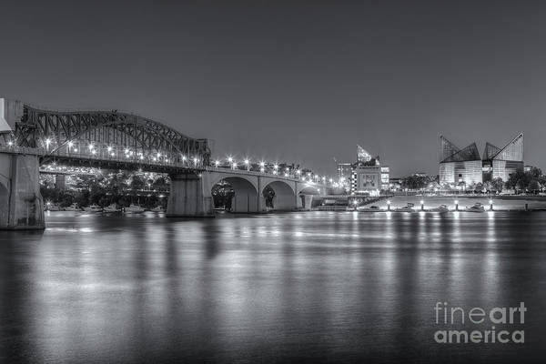 Wall Art - Photograph - Chattanooga Market Street Bridge At Twilight II by Clarence Holmes