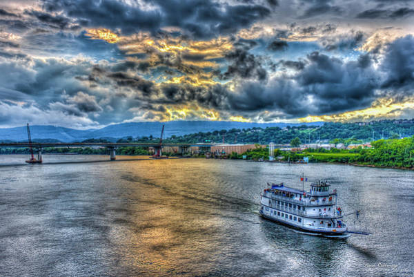 Photograph - Chattanooga Sunset Cruse Tennessee River Art by Reid Callaway