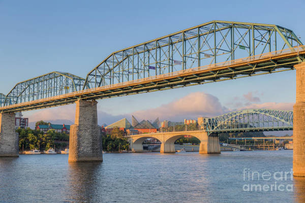Photograph - Chattanooga Tennessee River Bridges I by Clarence Holmes