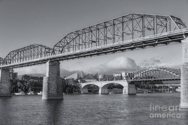 Wall Art - Photograph - Chattanooga Tennessee River Bridges II by Clarence Holmes