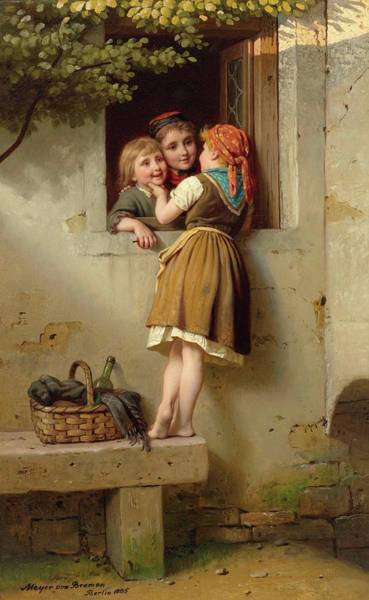 Meyer Painting - Chatterbox by Johann Georg