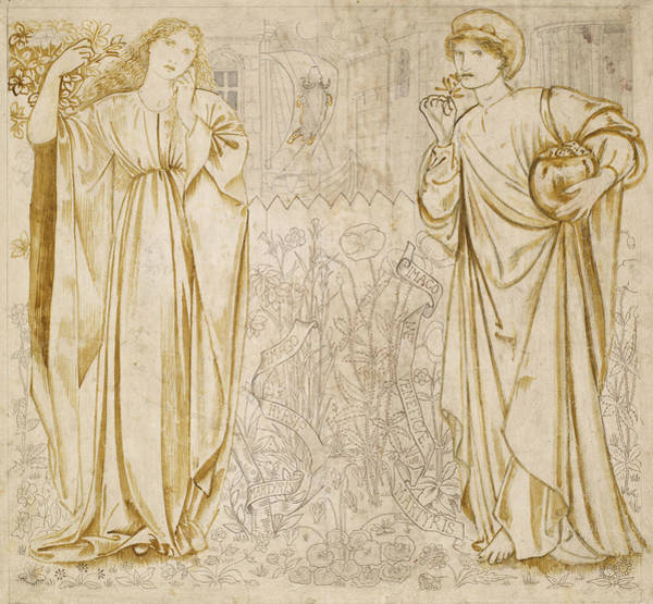 Drawing - Chaucer's Legend Of Good Women Hypsiphile And Medea by Edward Burne-Jones
