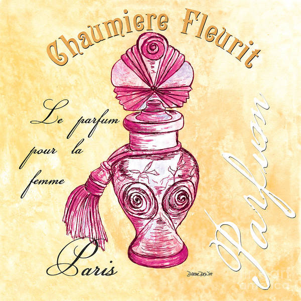 French Painting - Chaumiere Fleurit by Debbie DeWitt