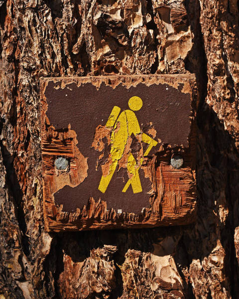 Photograph - Chautauqua Hiking Trail Hiking Sign by Toby McGuire