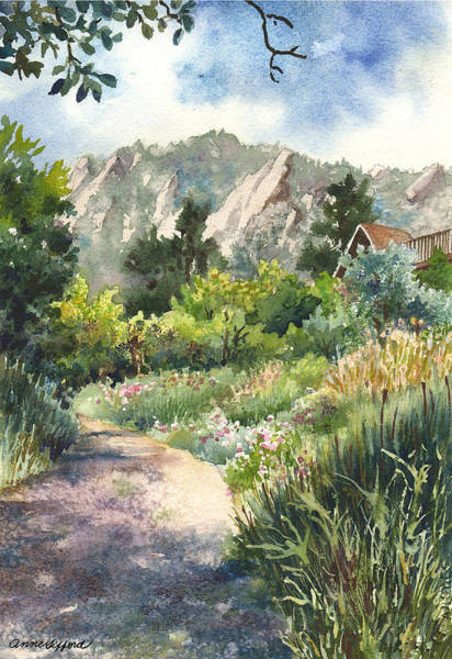 Trails Wall Art - Painting - Chautauqua Morning by Anne Gifford