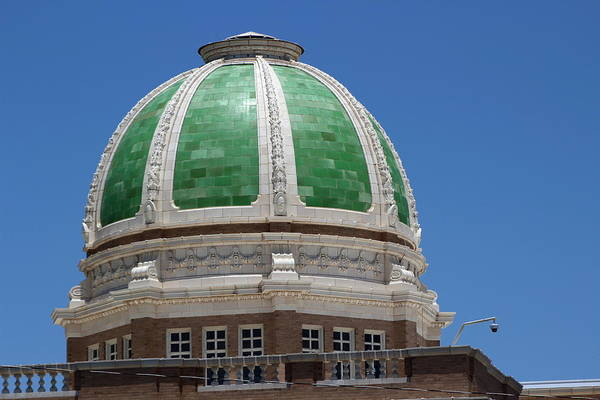 Photograph - Chaves County Courthouse Green Terracotta Dome by Colleen Cornelius