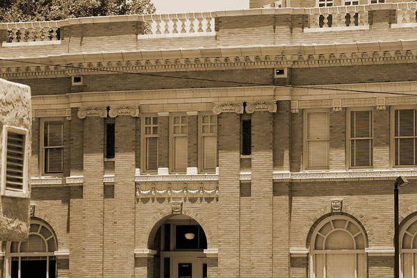 Photograph - Chaves County Courthouse In Sepia by Colleen Cornelius