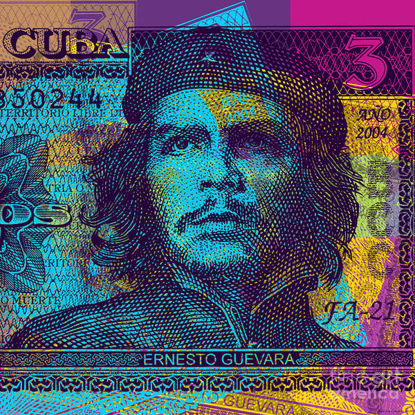 Digital Art - Che Guevara Bank Note #2 by Jean luc Comperat