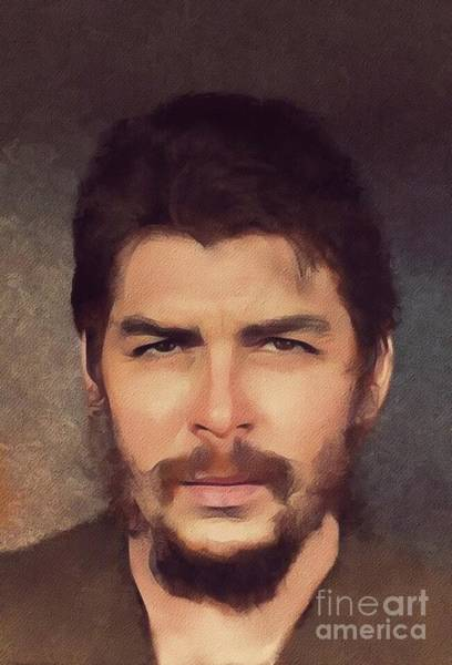 Wall Art - Painting - Che Guevara, Historical Figure by Mary Bassett