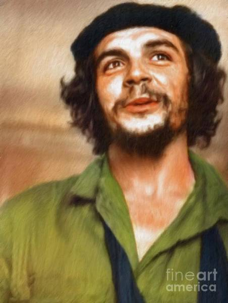 Wall Art - Painting - Che Guevara by Mary Bassett