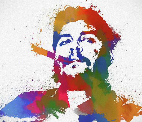 Wall Art - Painting - Che Guevara Paint Splatter by Dan Sproul