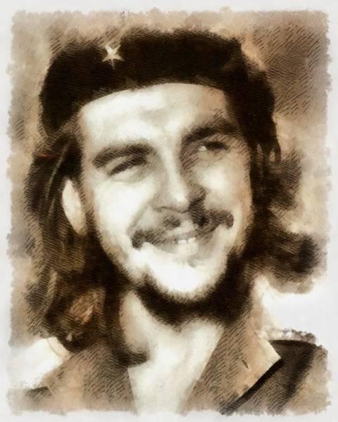 Wall Art - Painting - Che Guevara, Political Activist by John Springfield