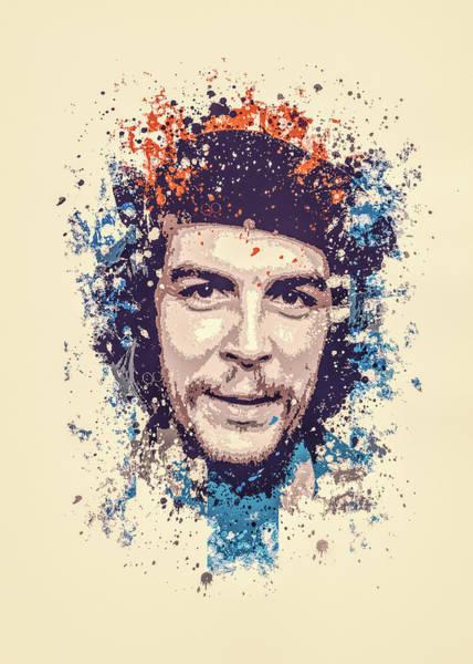 Wall Art - Painting - Che Guevara Splatter Painting by Milani P
