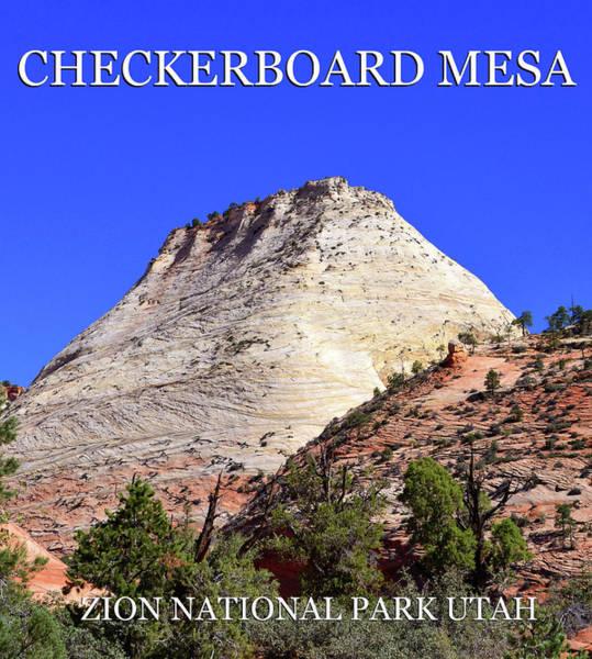 Wall Art - Photograph - Checkerboard Mesa Poster Work B by David Lee Thompson