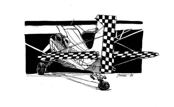 Checker Drawing - Checkerboard Pattern by Bill Tomsa