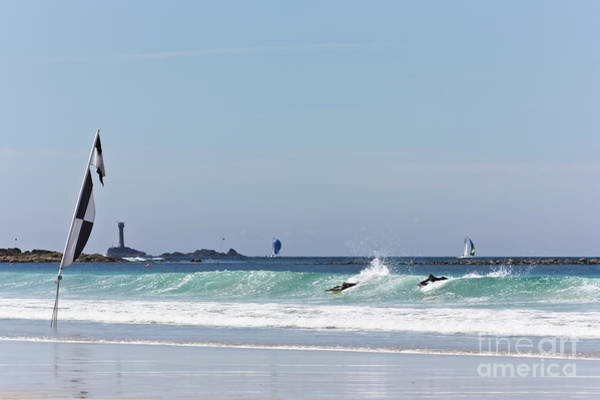 Sennen Cove Photograph - Checkered Flag Over The Longships by Terri Waters