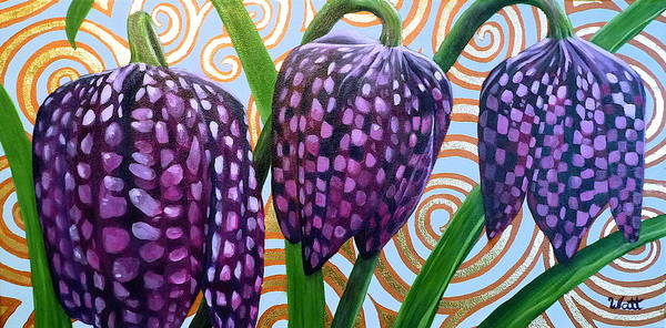 Wall Art - Painting - Checkered Lilies by Tammy Watt