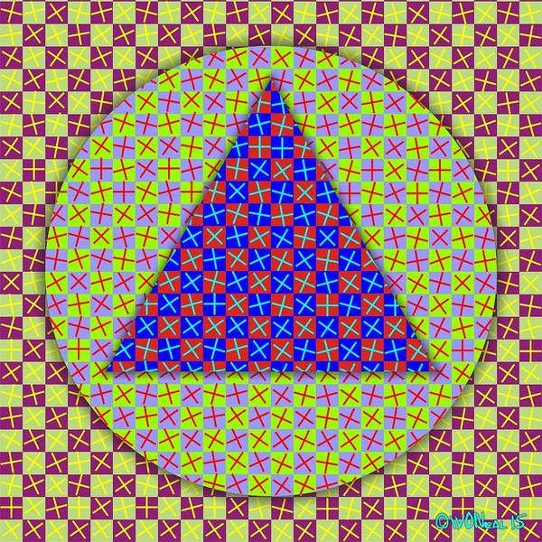 Digital Art - Checkered Medley 2 by Walter Neal