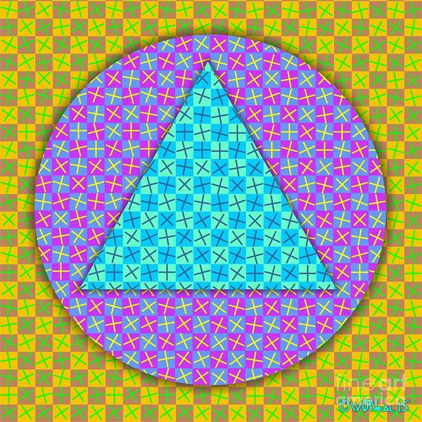 Digital Art - Checkered Medley1 by Walter Neal