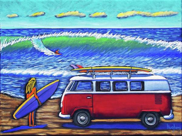 Painting - Checking Out The Waves by Kevin Hughes